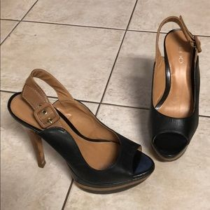 Aldo Black and brown stilettos